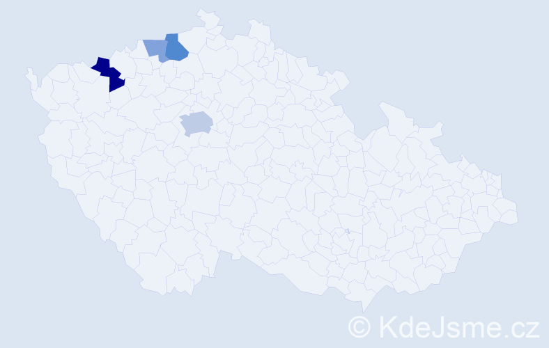 Příjmení: 'Adamečko', počet výskytů 8 v celé ČR