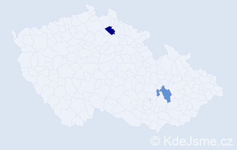 Příjmení: 'Ivanycka', počet výskytů 2 v celé ČR