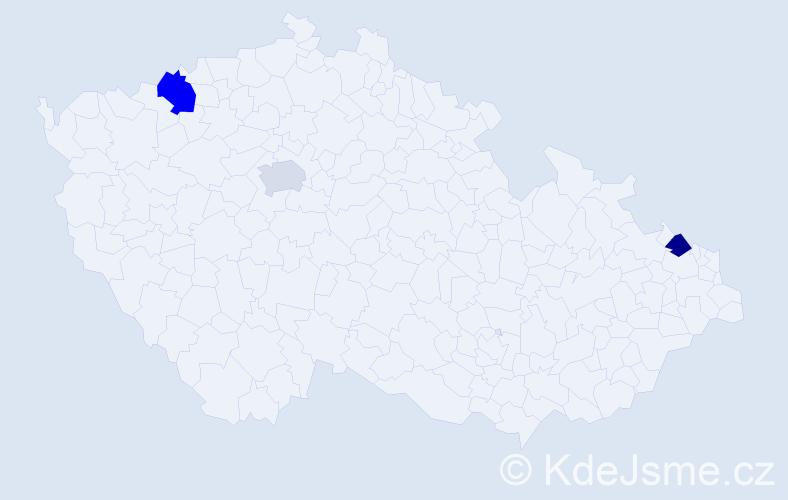 Příjmení: 'Harb', počet výskytů 7 v celé ČR