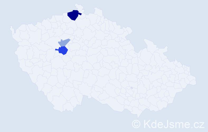 Příjmení: 'Flemmerová', počet výskytů 7 v celé ČR