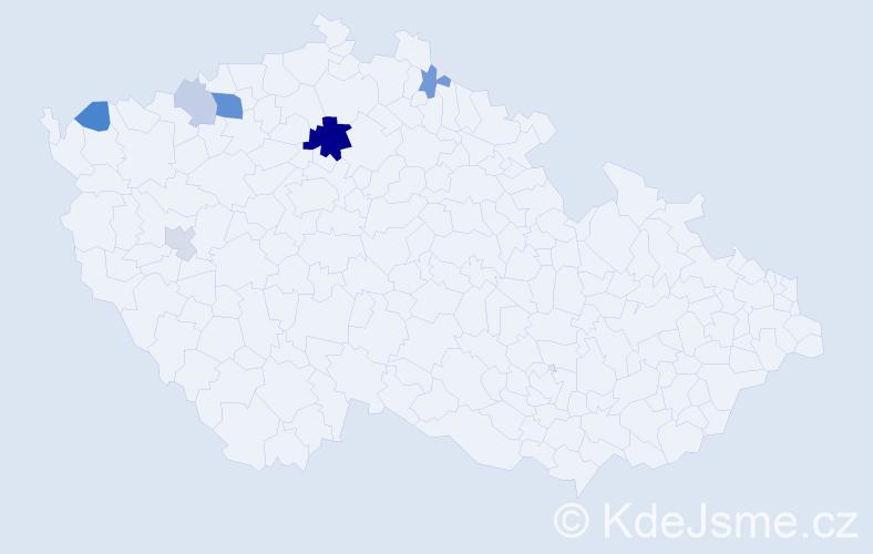 Příjmení: 'Günzelová', počet výskytů 14 v celé ČR