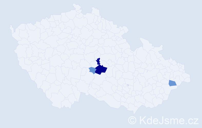 Příjmení: 'Jermlová', počet výskytů 11 v celé ČR