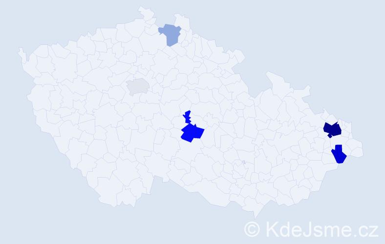 Příjmení: 'Bancířová', počet výskytů 15 v celé ČR