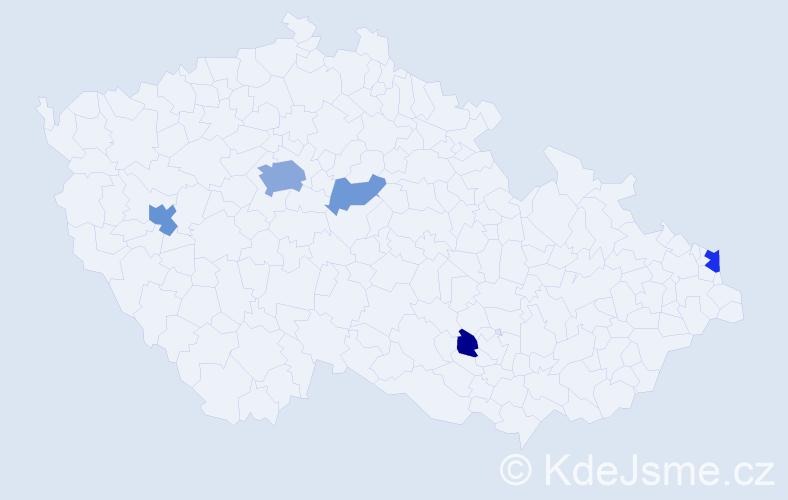 Příjmení: 'Janke', počet výskytů 12 v celé ČR