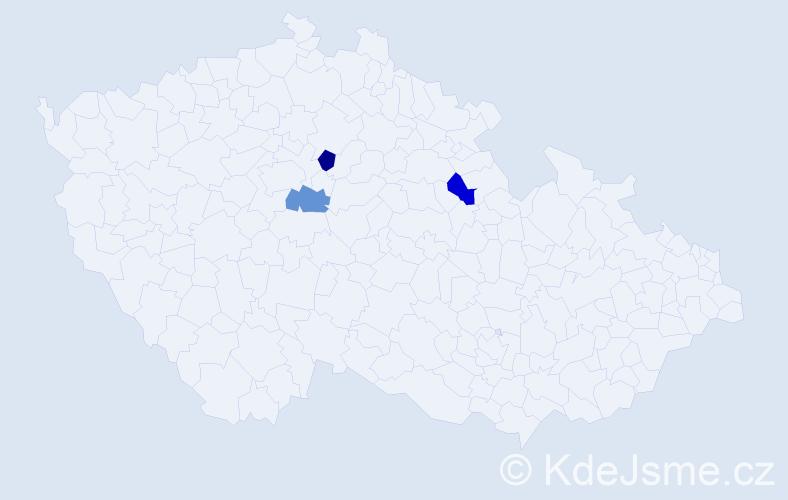 Příjmení: 'Izaidesová', počet výskytů 3 v celé ČR