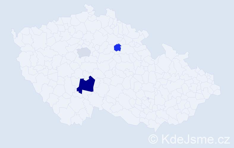 Příjmení: 'Ješ', počet výskytů 10 v celé ČR