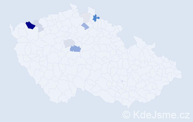 Příjmení: 'Gojda', počet výskytů 33 v celé ČR