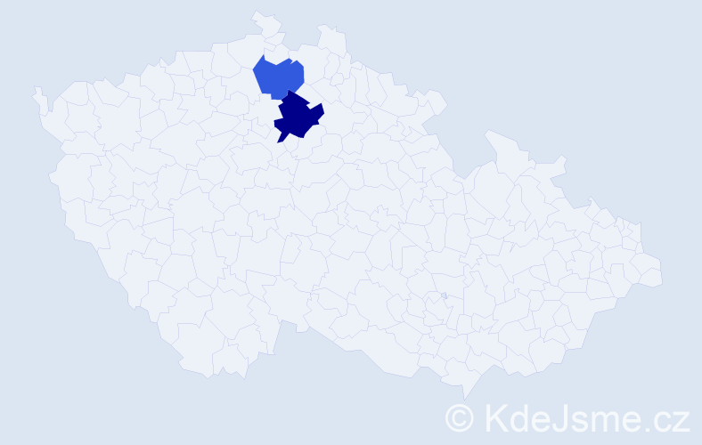 Příjmení: 'Gulichová', počet výskytů 3 v celé ČR
