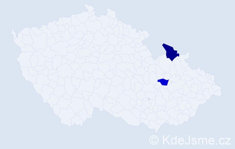 Příjmení: 'Gömbiczká', počet výskytů 3 v celé ČR