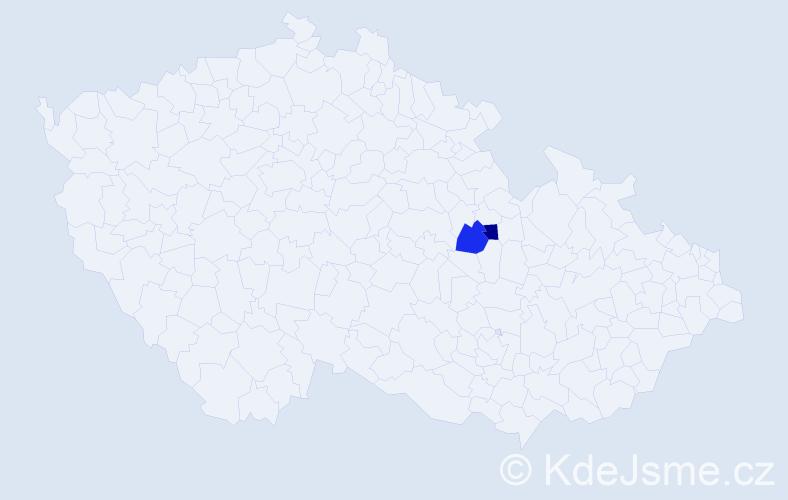Příjmení: 'Ivanoviciová', počet výskytů 4 v celé ČR