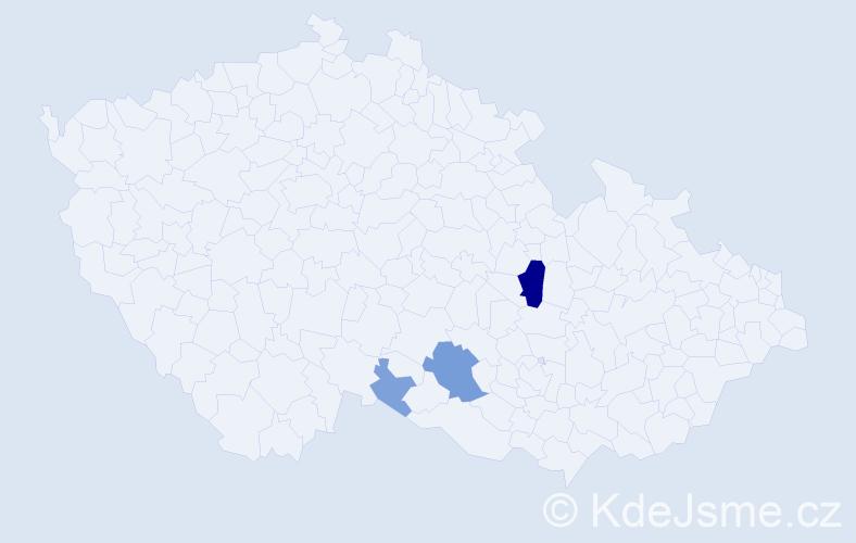 Příjmení: 'Karkulíková', počet výskytů 11 v celé ČR