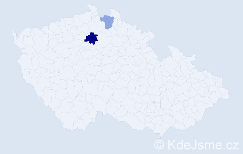 Příjmení: 'Feckanič', počet výskytů 3 v celé ČR