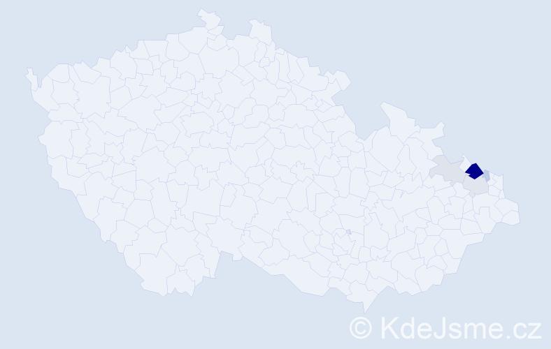 Příjmení: 'Gaidečková', počet výskytů 17 v celé ČR
