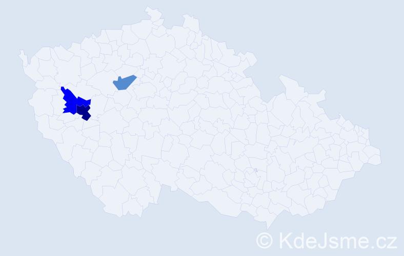 Příjmení: 'Antoušek', počet výskytů 5 v celé ČR