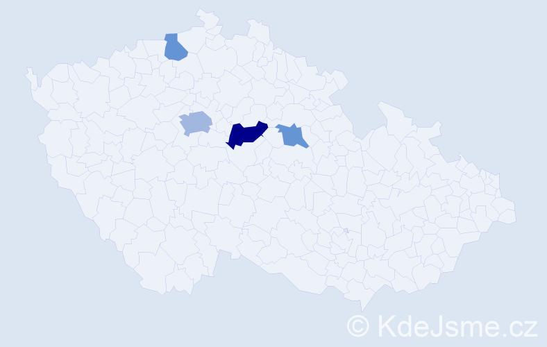 Příjmení: 'Gandalovič', počet výskytů 7 v celé ČR