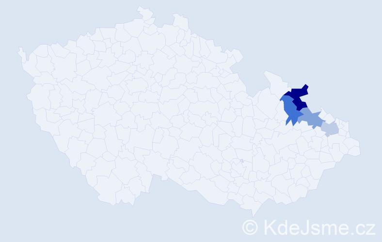 Příjmení: 'Kerpčarová', počet výskytů 5 v celé ČR