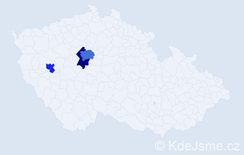 Příjmení: 'Erzigojová', počet výskytů 6 v celé ČR