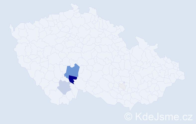 Příjmení: 'Čančurová', počet výskytů 19 v celé ČR