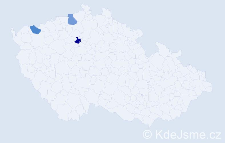 Příjmení: 'Hráč', počet výskytů 10 v celé ČR