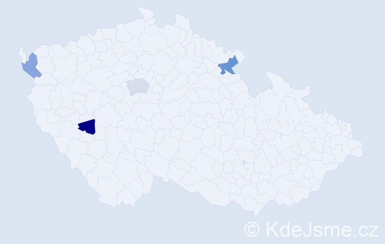 Příjmení: 'Ivančenko', počet výskytů 7 v celé ČR