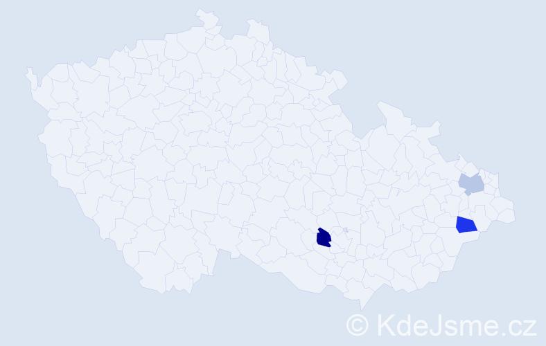 Příjmení: 'Idziorová', počet výskytů 3 v celé ČR