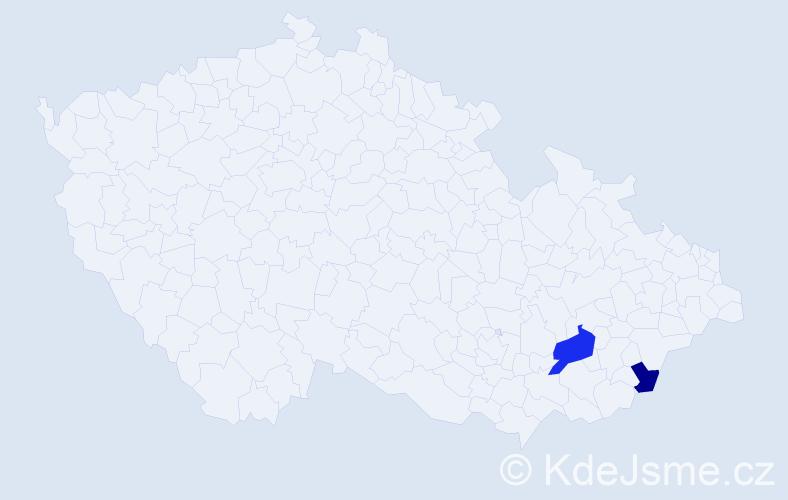 Příjmení: 'Erkerová', počet výskytů 3 v celé ČR