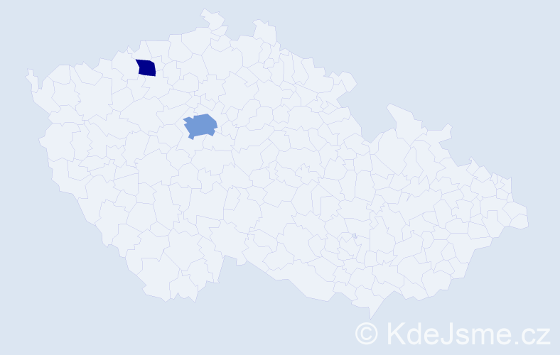 Příjmení: 'Cisse', počet výskytů 4 v celé ČR