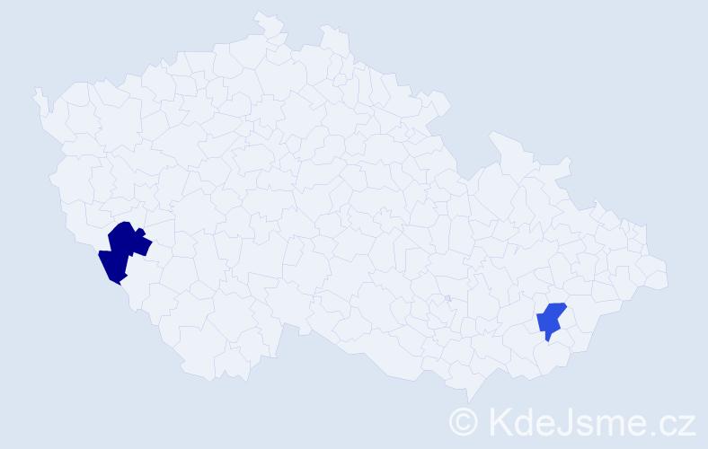 Příjmení: 'Greill', počet výskytů 2 v celé ČR