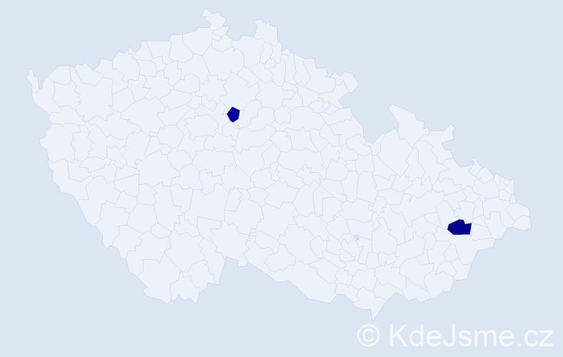 Příjmení: 'Čuchráč', počet výskytů 3 v celé ČR