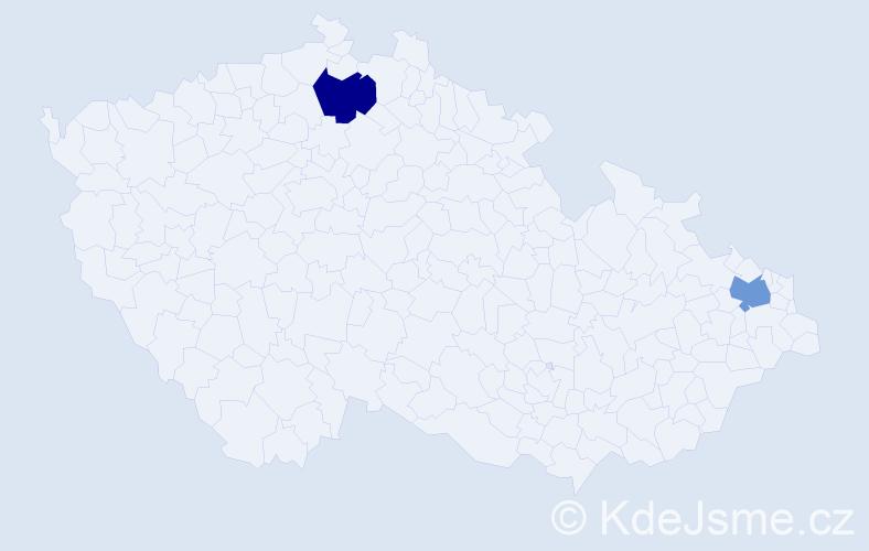 Příjmení: 'Gšventner', počet výskytů 2 v celé ČR