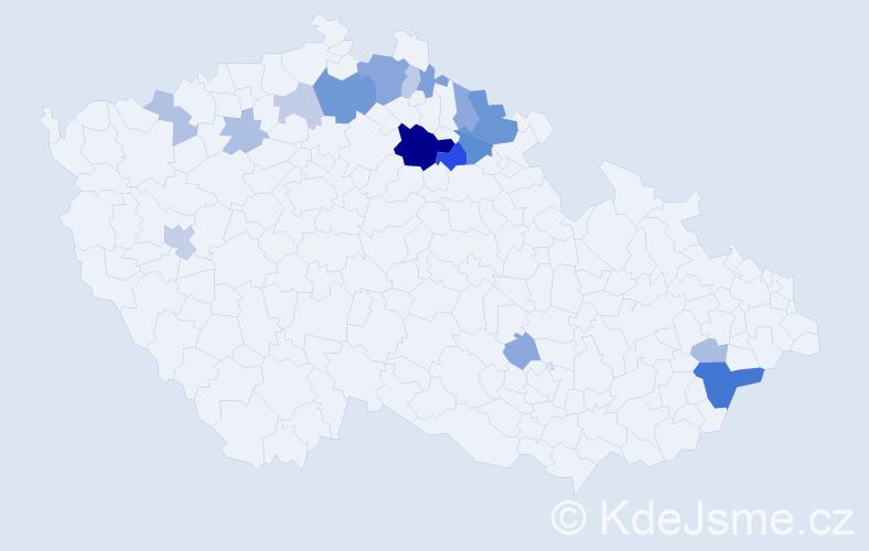 Příjmení: 'Enge', počet výskytů 40 v celé ČR
