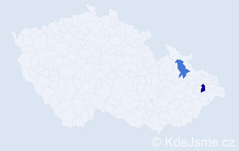 Příjmení: 'Kršiáková', počet výskytů 3 v celé ČR