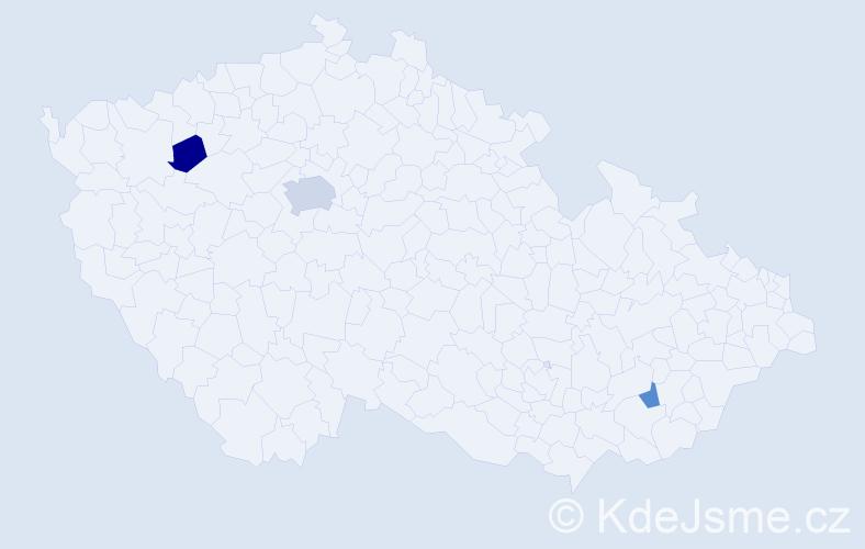Příjmení: 'Acar', počet výskytů 5 v celé ČR
