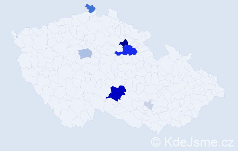 Příjmení: 'Dršatová', počet výskytů 16 v celé ČR