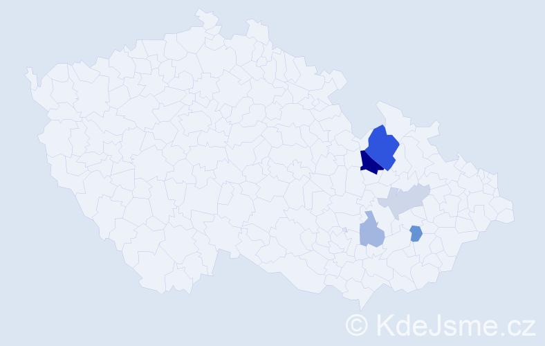 Příjmení: 'Honemann', počet výskytů 12 v celé ČR