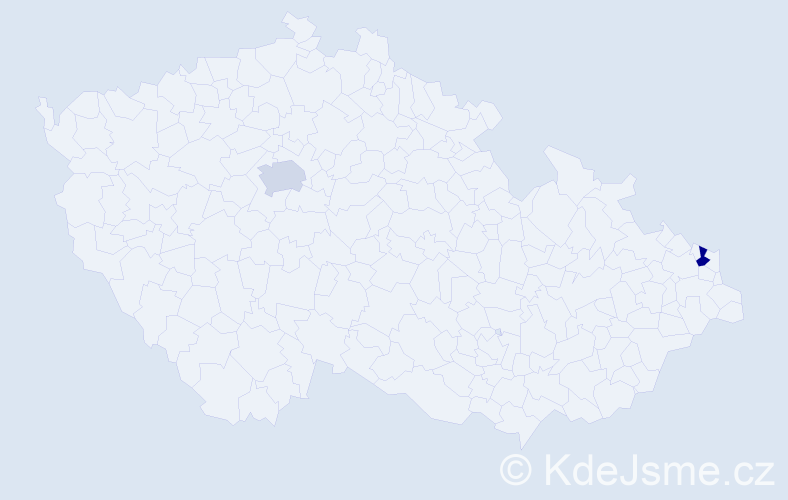 Příjmení: 'Alia', počet výskytů 4 v celé ČR