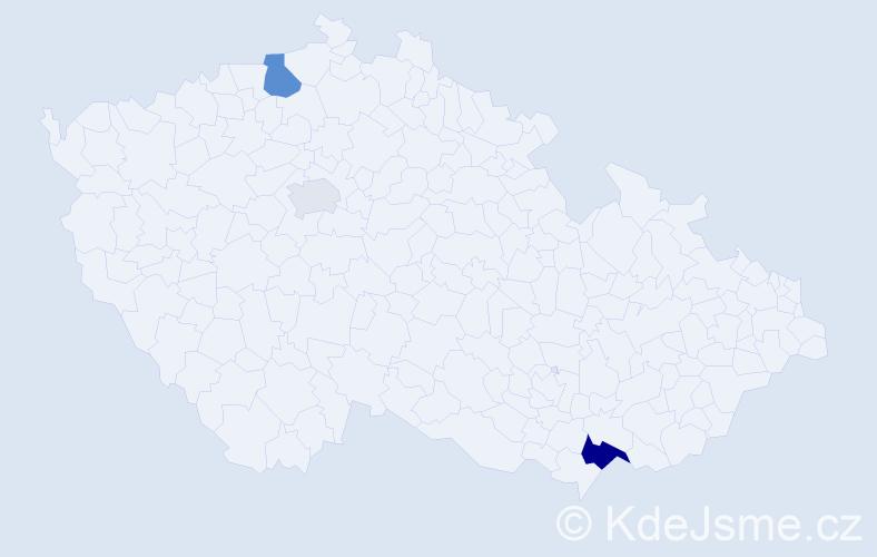 Příjmení: 'Eimutová', počet výskytů 6 v celé ČR