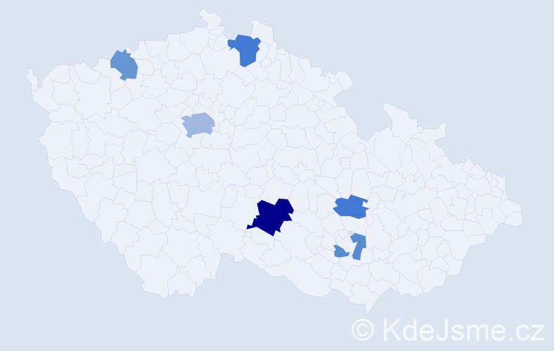 Příjmení: 'Lauerman', počet výskytů 12 v celé ČR