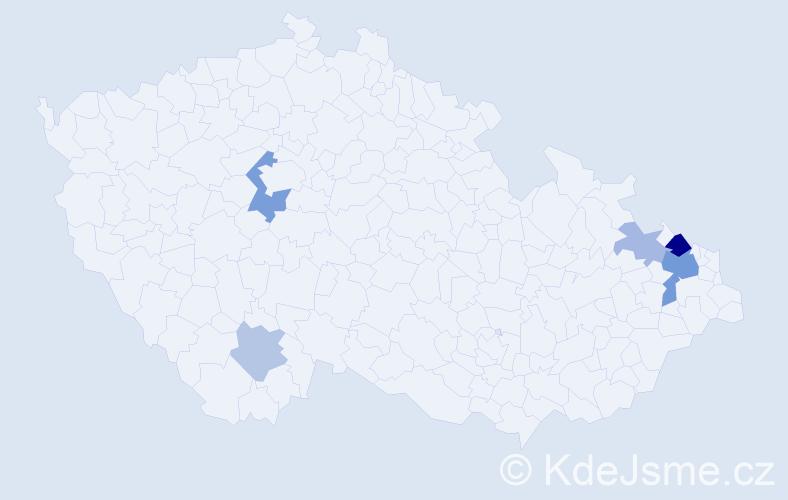 Příjmení: 'Kusiak', počet výskytů 13 v celé ČR