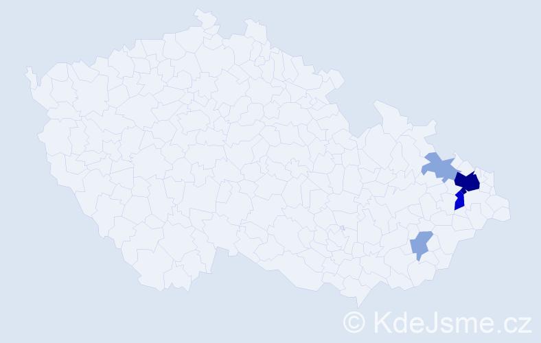 Příjmení: 'Glogerová', počet výskytů 15 v celé ČR
