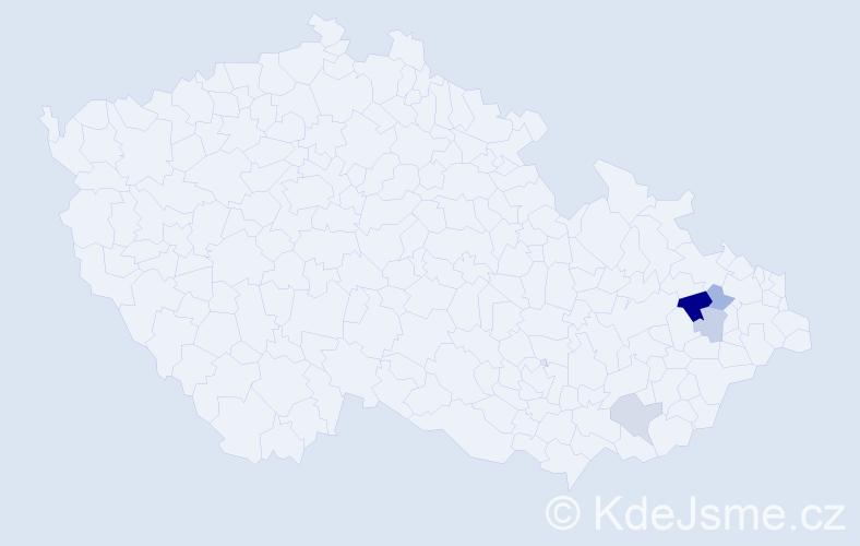 Příjmení: 'Hajchel', počet výskytů 14 v celé ČR