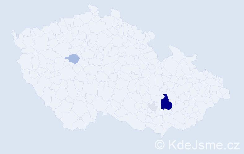 Příjmení: 'Klečko', počet výskytů 8 v celé ČR