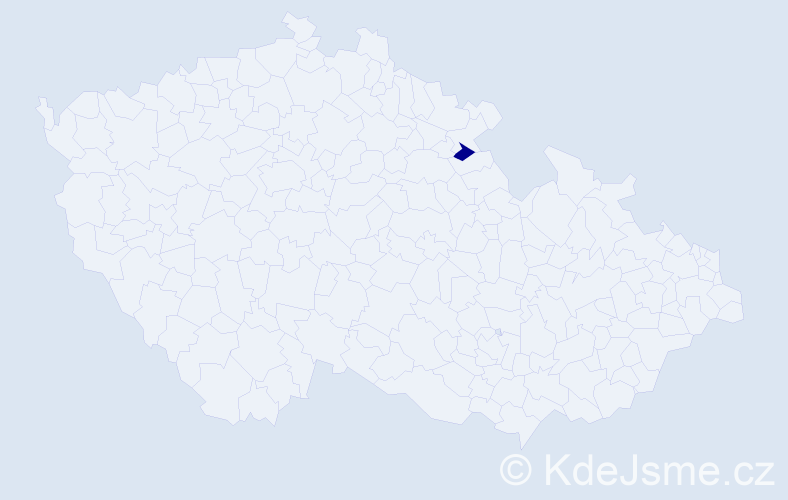 Příjmení: 'Hankécy', počet výskytů 1 v celé ČR