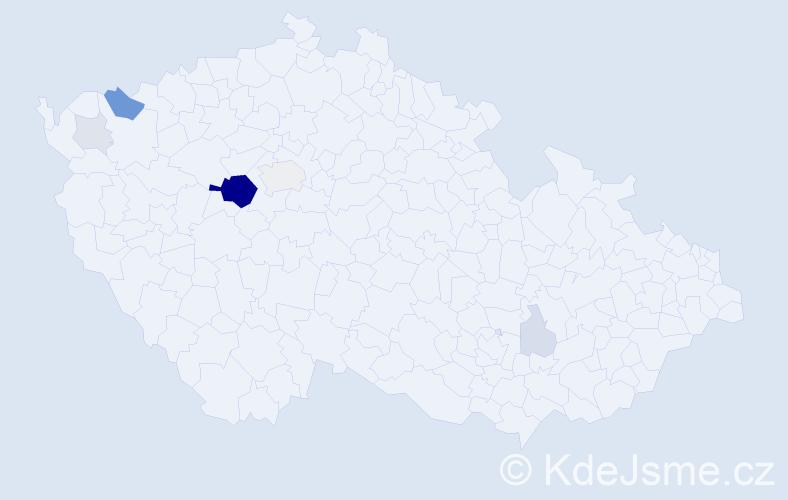 Příjmení: 'Leipert', počet výskytů 29 v celé ČR