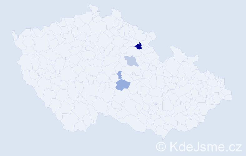 Příjmení: 'Čertner', počet výskytů 4 v celé ČR