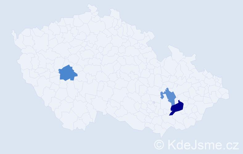 Příjmení: 'Konfálová', počet výskytů 4 v celé ČR
