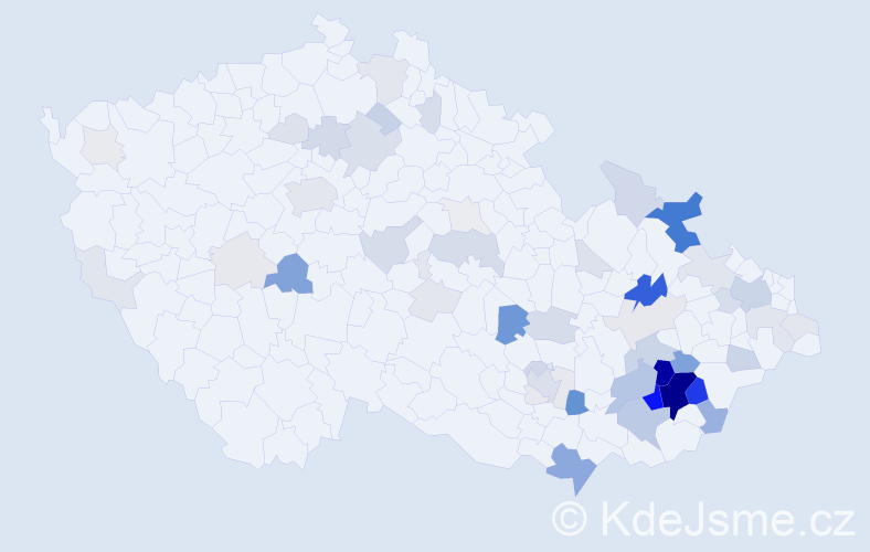 Příjmení: 'Chudárková', počet výskytů 241 v celé ČR