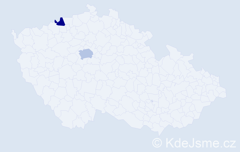 Příjmení: 'Einhorn', počet výskytů 3 v celé ČR