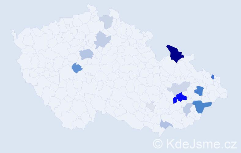 Příjmení: 'Haflantová', počet výskytů 38 v celé ČR