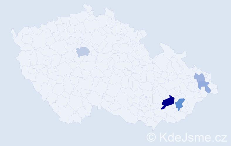 Příjmení: 'Landor', počet výskytů 13 v celé ČR